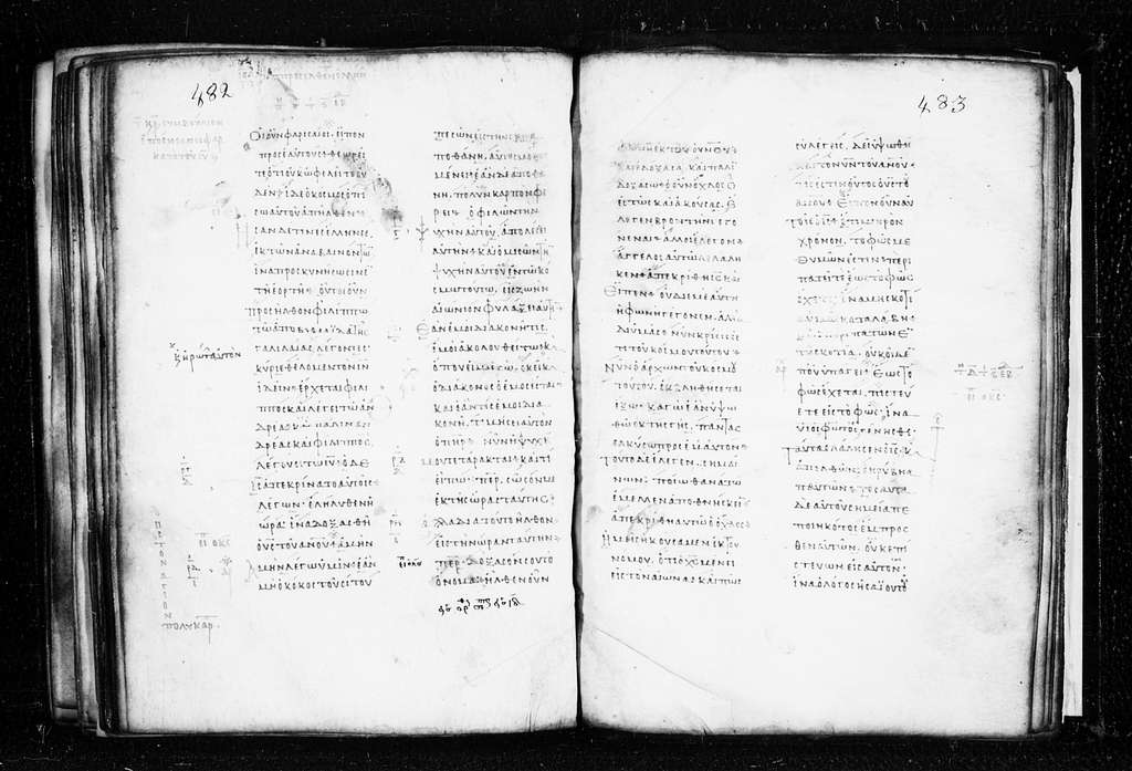 Monastery of Dionysios 55. (old 10). (Greg. 045, Ω). Four Gospels. 8th9th cent. 259 f