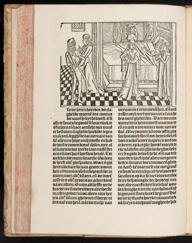 Een seer schone ende suuerlike hystorie van Olyuier van Castillen ende van Artus van Algarbe sijnen lieuen gheselle ende oeck mede van die schone Helena, des Conincs docter van Enghelant