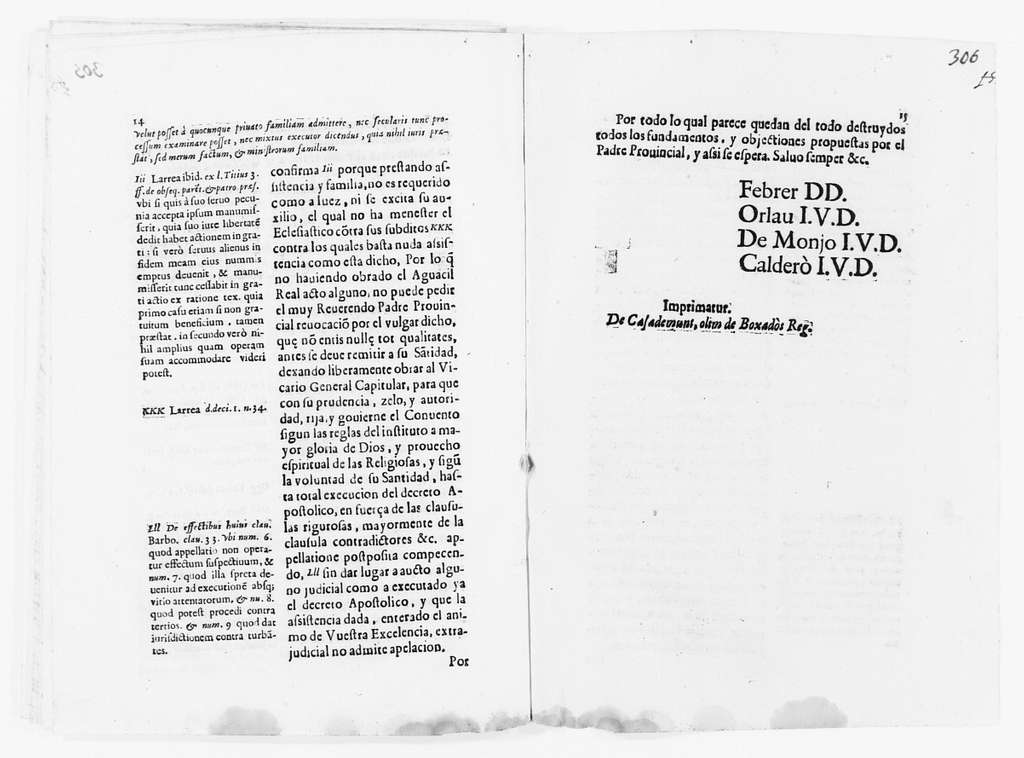Brief filed in response to the objections raised by the Provincial Father to the execution of the Decree issued by Pope Alexander VII on March 3, 1663 placing the Monks, the Monastery and the Convent of Saint Elizabeth under the jurisdiction of the Bishop of Barcelona. Ca. XVII century