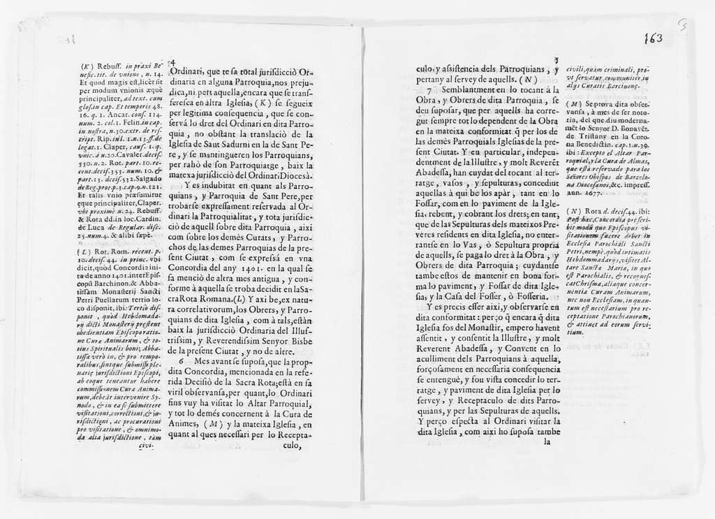 Statement by the workers and other persons of the Parish of San Pedro in the city of Barcelona, concerning their separation from the jurisdiction of the Abbess of the Monastery of San Pedro de las Puellas of said city. Ca. XVII century