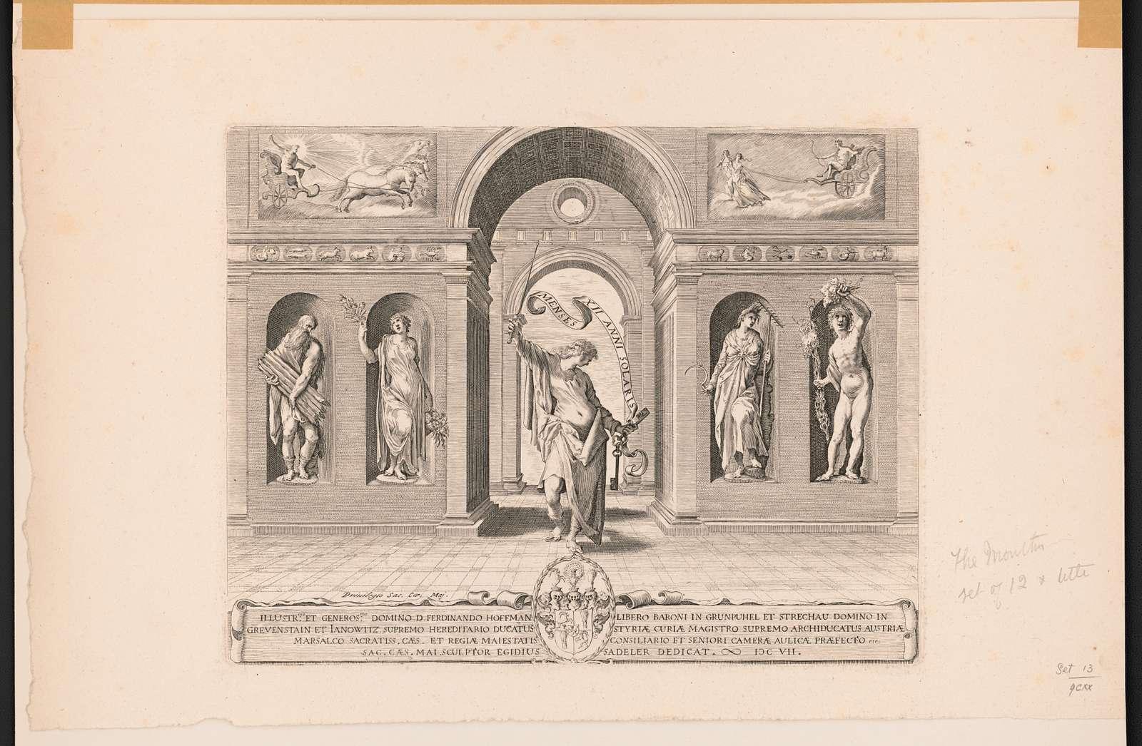 Menses XII anni solaris Egidius Sadeler