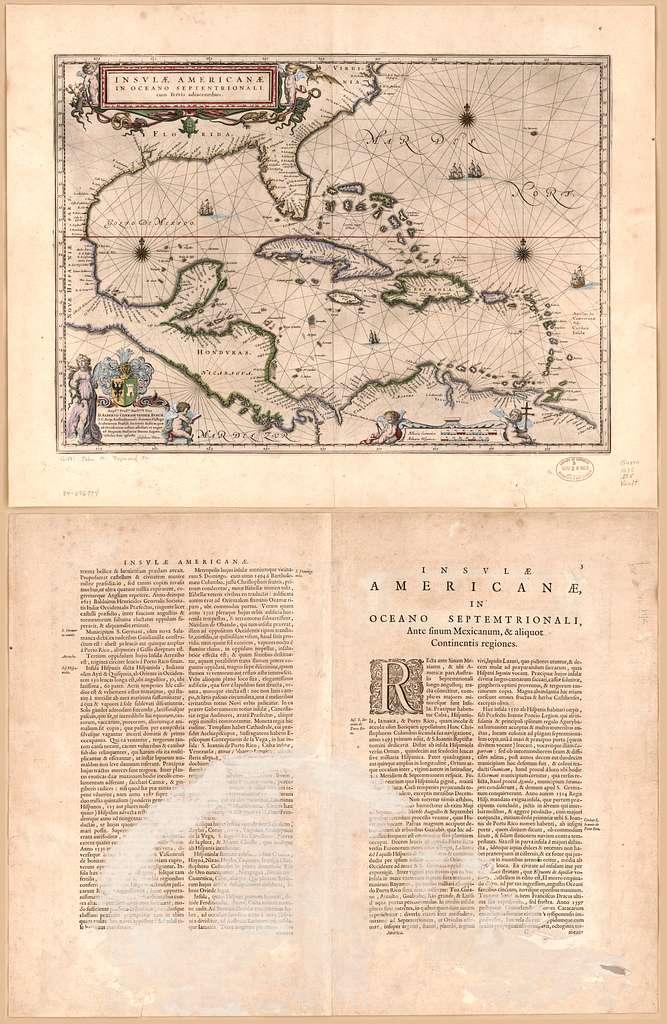 Insulæ Americanæ in oceano septentrionali cum terris adiacentibus
