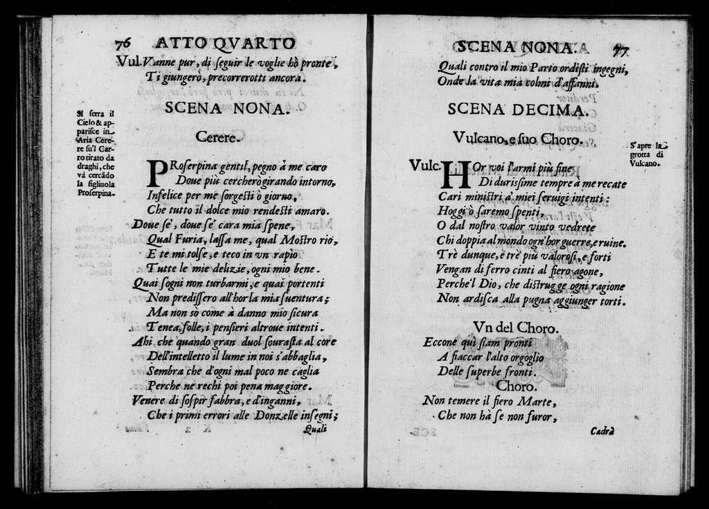Nozze degli dei. Libretto. Libretto. Italian