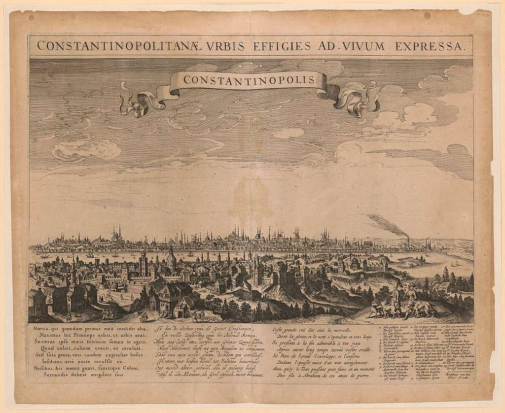 Constantinopolitanæ urbis effigies ad vivum expressa, Constantinopolis Rombout van den Hoeÿe excudit