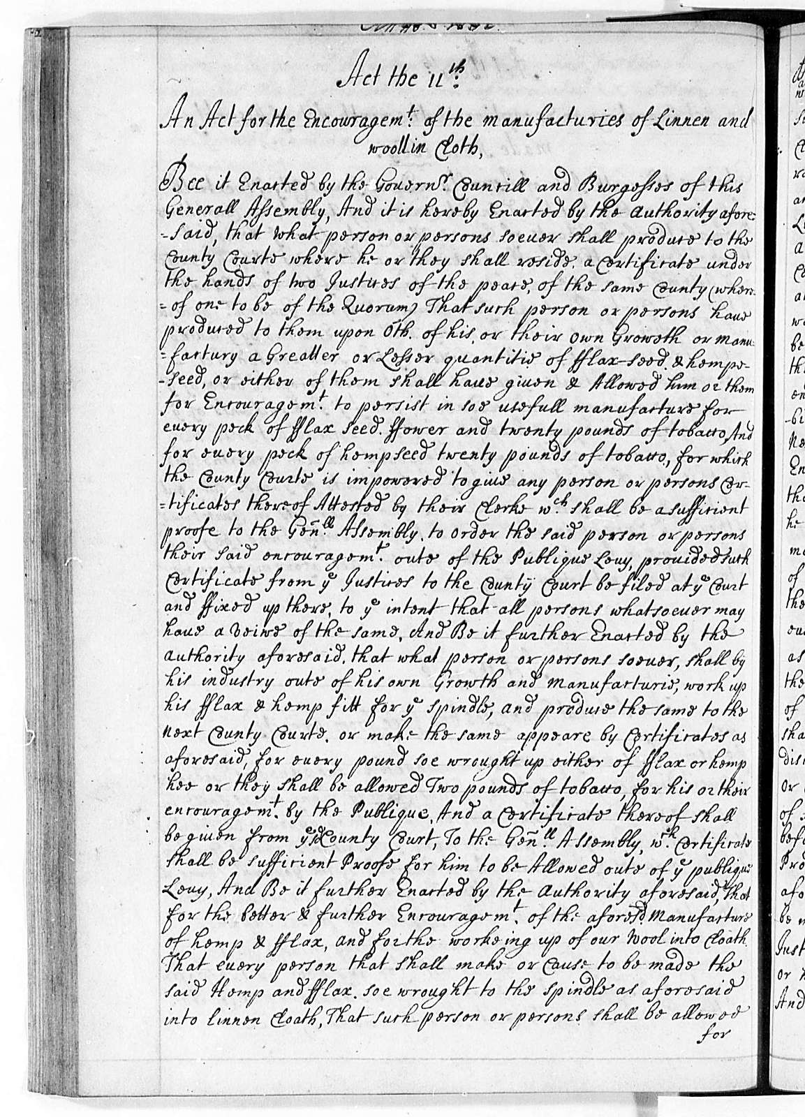Virginia, 1662-97, Laws (The Peyton Randolph Manuscript)