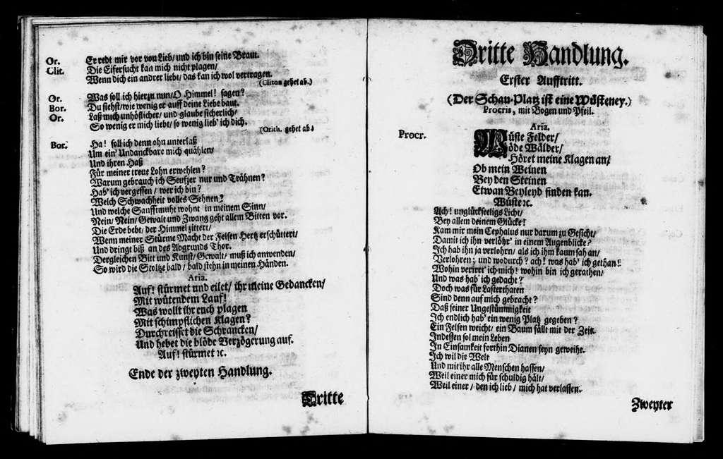 Procris and Cephalus. Libretto. Libretto. German