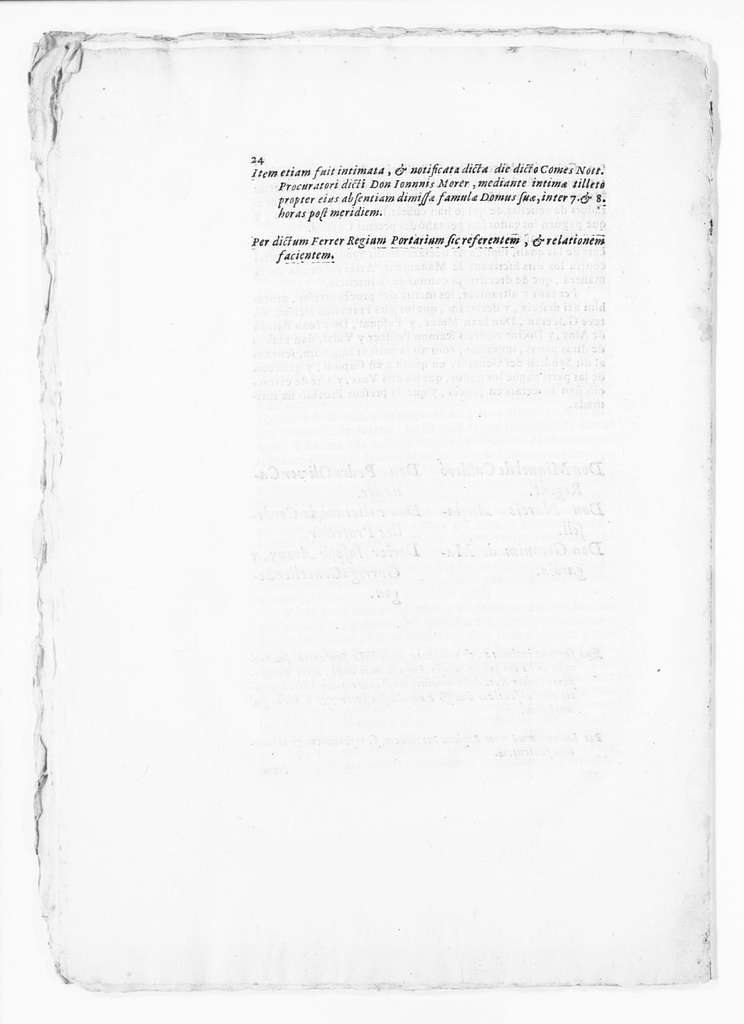 Judgment of August 1, 1703 issued by Miguel de Calderó on behalf the clerks of the Lieutenancy of Catalonia for charges filed against them by the General Syndic of the Princedom of Catalonia for abuse of power