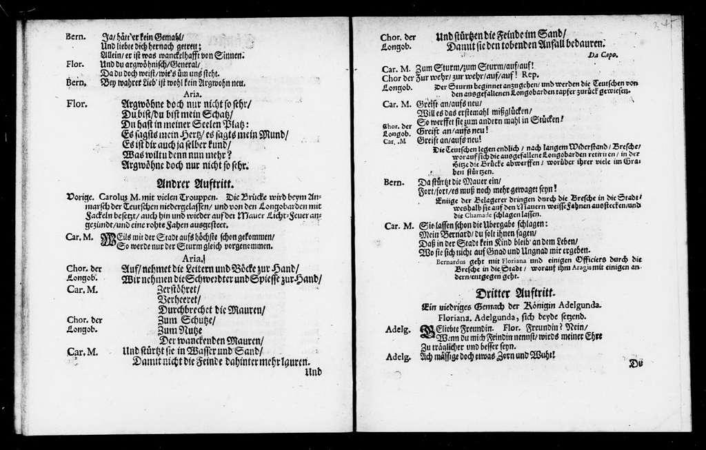 Desiderius, König der Langobarden. Libretto. Libretto. German