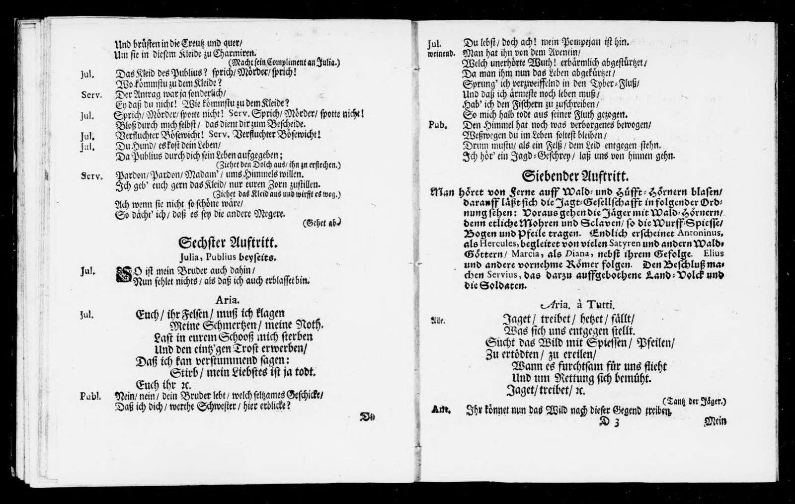 Durch Verstellung und Grossmuth über die Grausamkeit siegende Liebe. Libretto. German