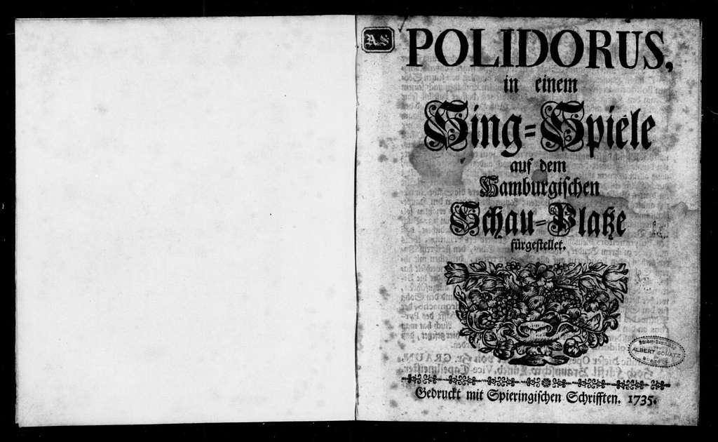 Polydorus. Libretto. German