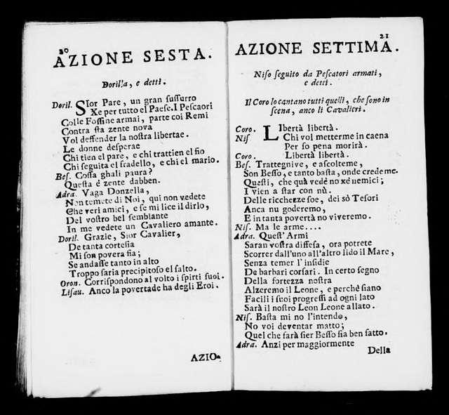 Fondazione di Venezia. Libretto. Libretto. Italian
