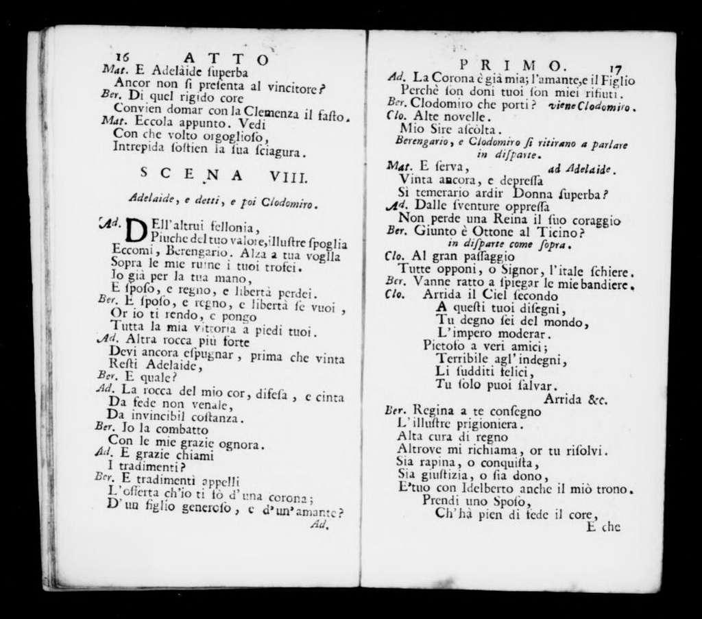 Ottone. Libretto. Italian