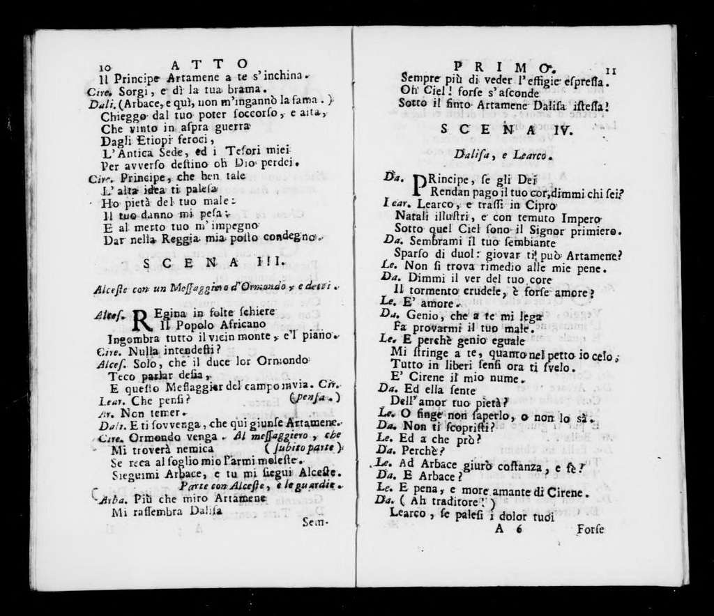 Cirene. Libretto. Italian