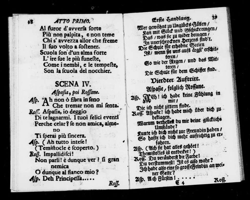 Temistocle. Libretto. German & Italian