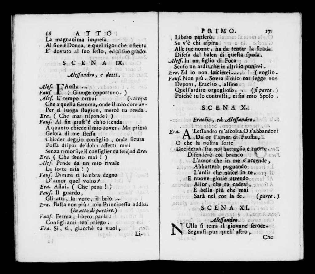 Zoe. Libretto. Italian