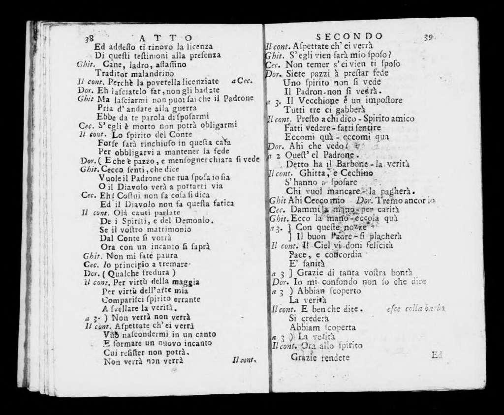 Conte Caramella. Libretto. Italian
