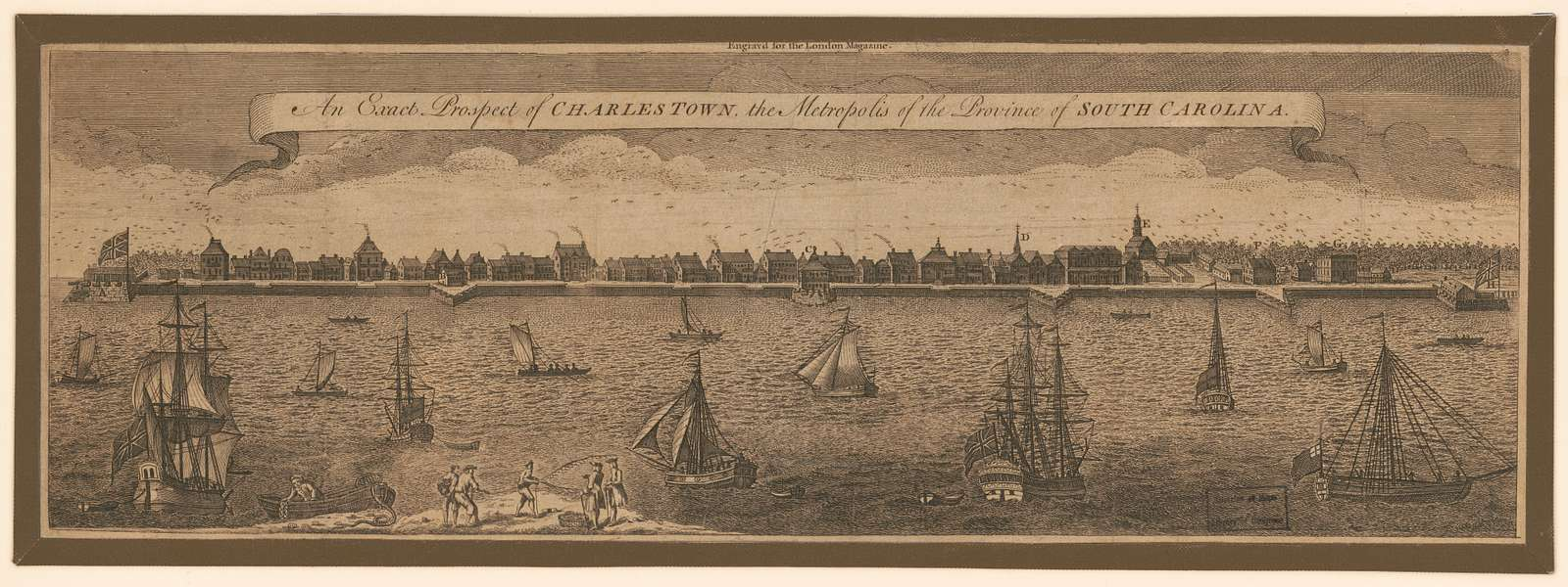 An exact prospect of Charlestown, the metropolis of the province of South Carolina