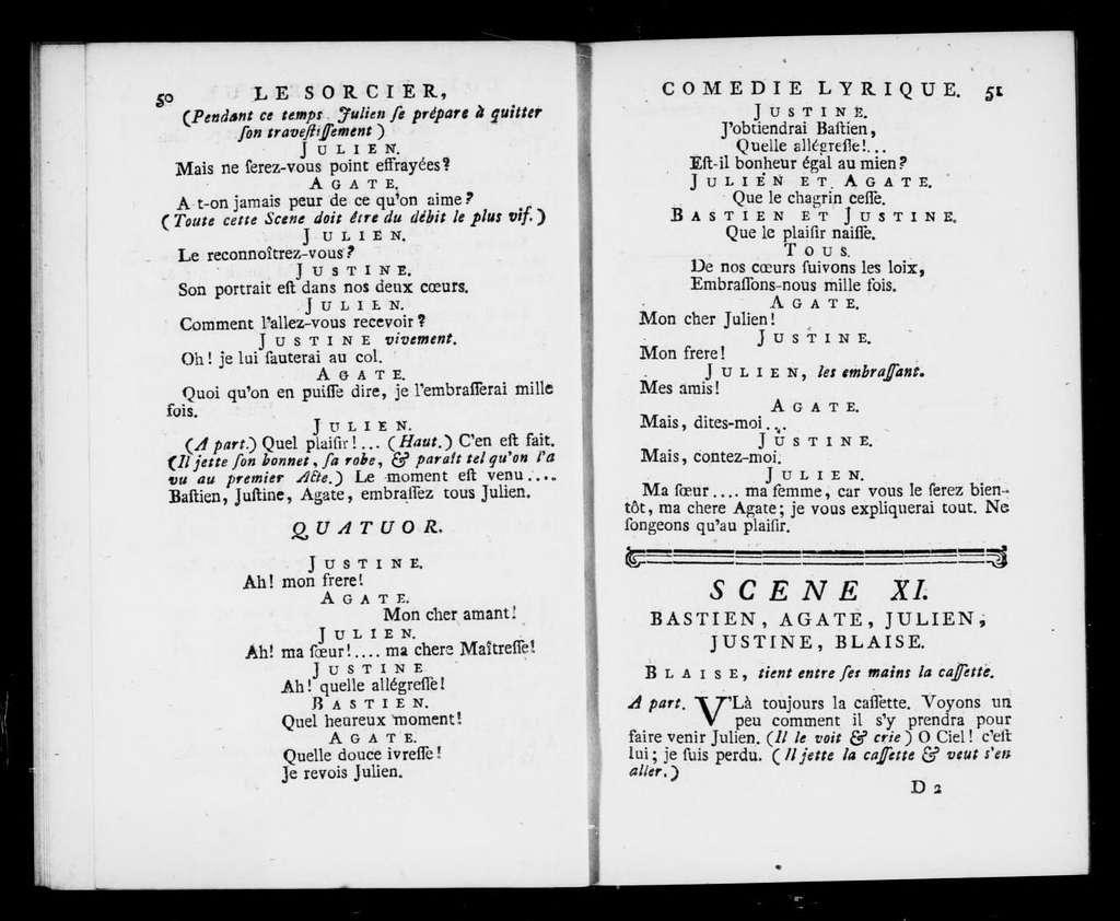 Sorcier. Libretto. Libretto. French