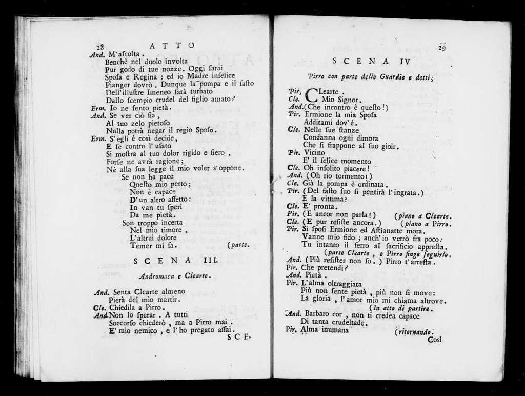 Andromaca. Libretto