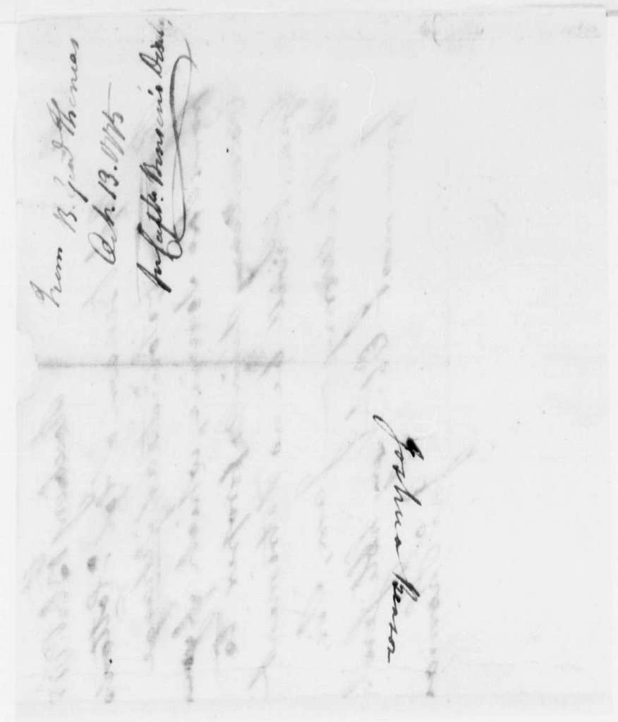 George Washington Papers, Series 4, General Correspondence: John Thomas to George Washington, October 13, 1775