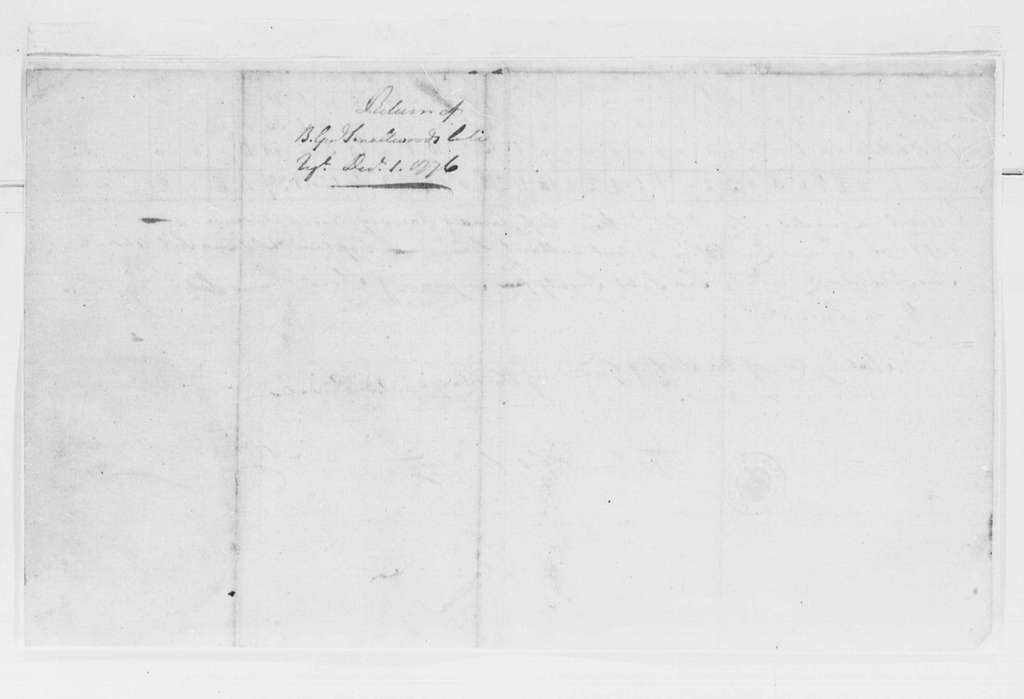 George Washington Papers, Series 4, General Correspondence: Mordecai Gist, December 1, 1776, Report on Maryland Troops