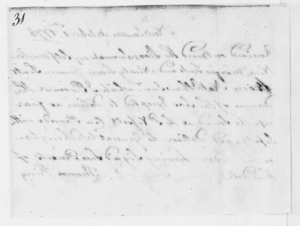 George Washington Papers, Series 4, General Correspondence: Thomas King to Nathaniel Shaw Jr., October 1, 1776, Receipt