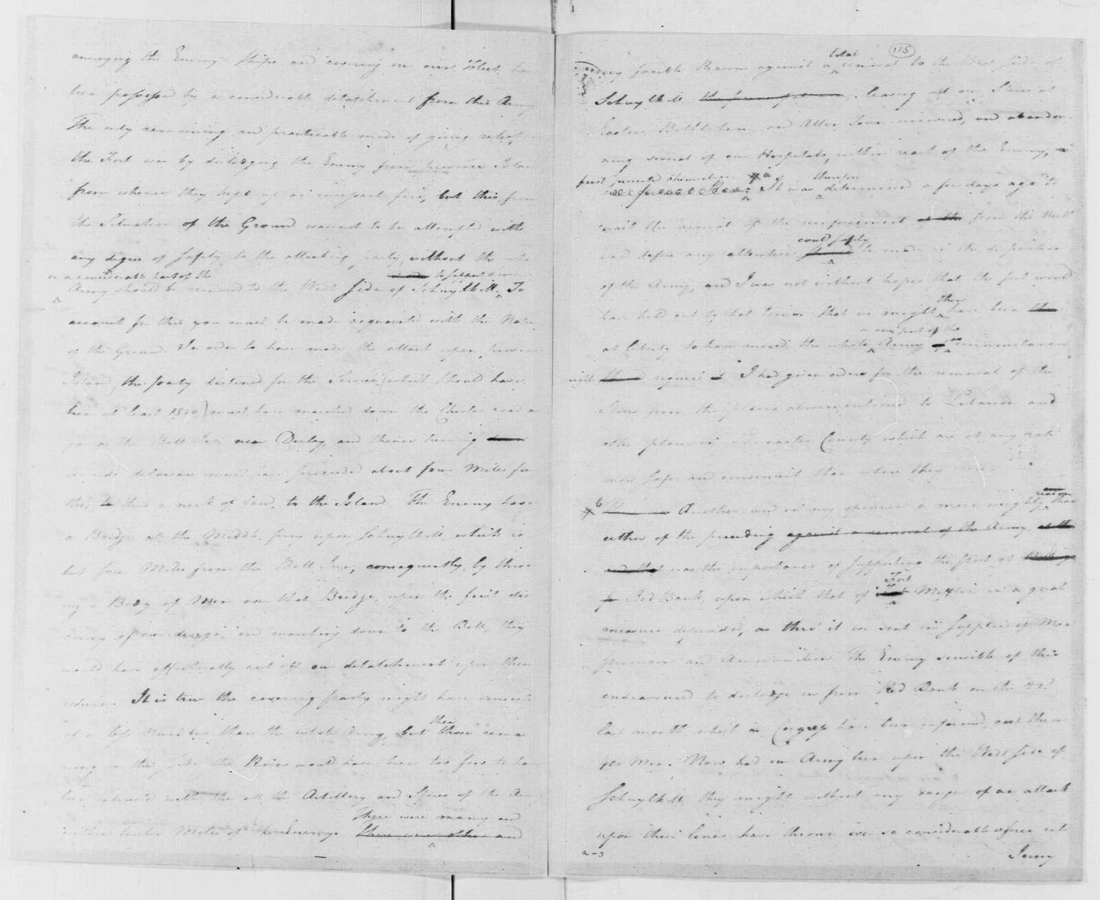 George Washington Papers, Series 4, General Correspondence: George Washington to Continental Congress, November 17, 1777