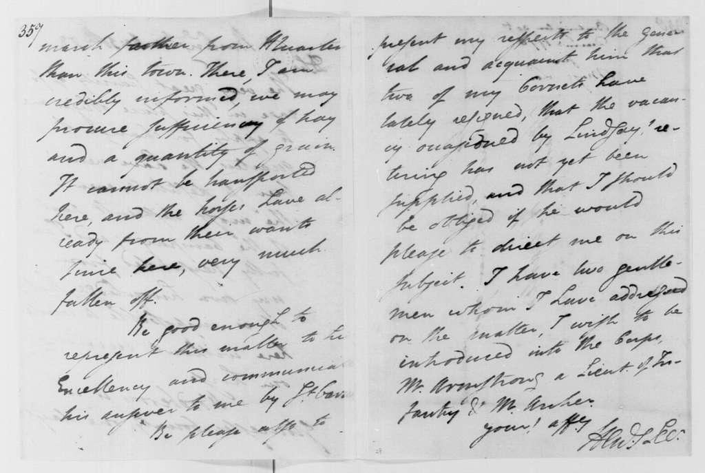 George Washington Papers, Series 4, General Correspondence: Henry Lee Jr. to Tench Tilghman, December 30, 1778