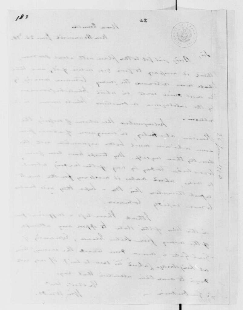 George Washington Papers, Series 4, General Correspondence: William Winds to Philemon Dickinson, June 26, 1778, 19th-century transcription by William B. Sprague