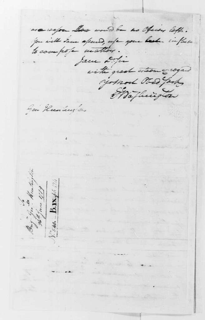 George Washington Papers, Series 4, General Correspondence: George Washington to Jedidiah Huntington, June 26, 1779