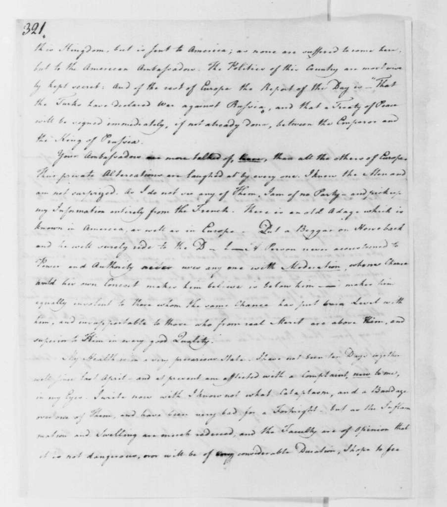 George Washington Papers, Series 4, General Correspondence: John Fenton to George Mercer, March 8, 1779