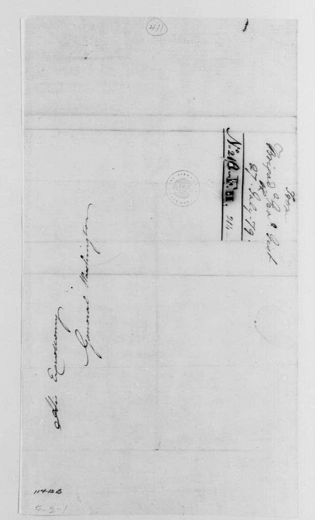George Washington Papers, Series 4, General Correspondence: Mordecai Gist to George Washington, July 27, 1779
