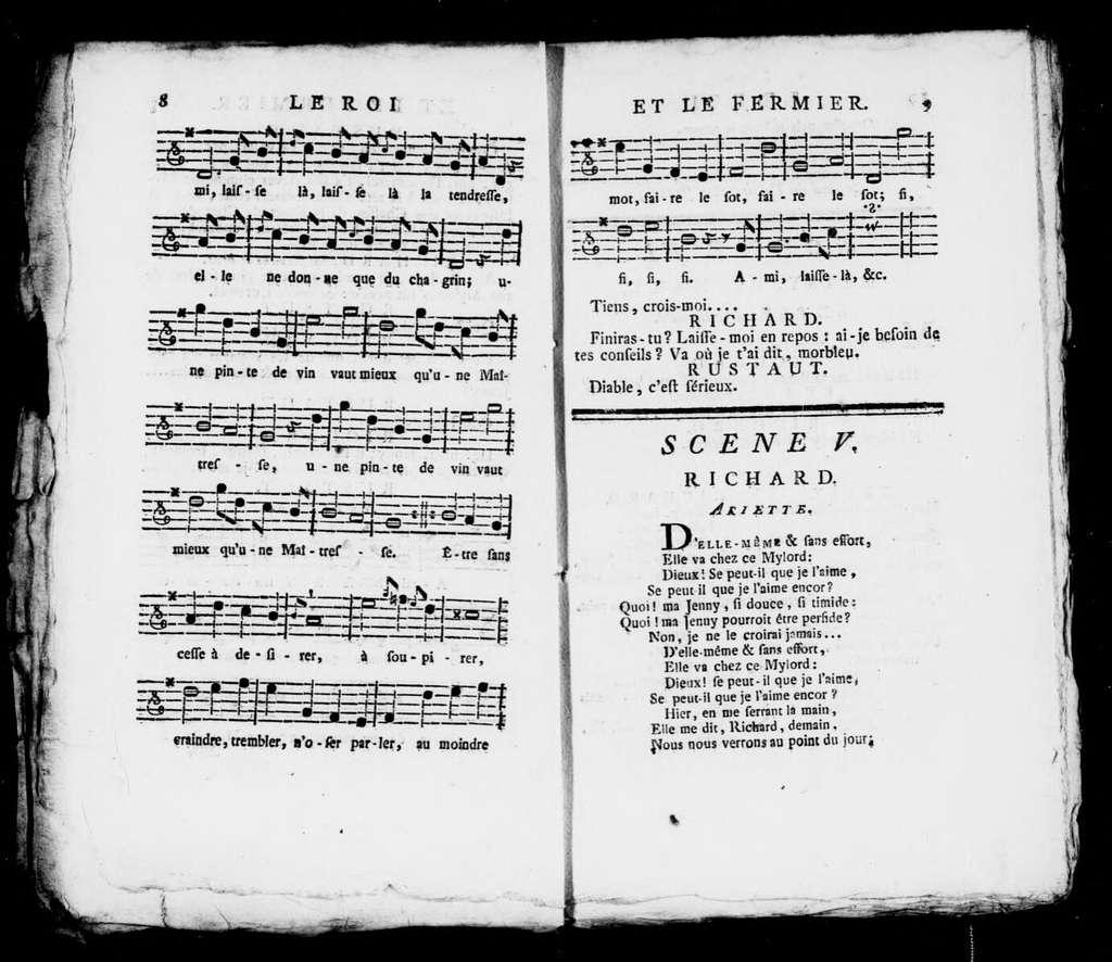 Roy et le fermier. Libretto. Libretto. French