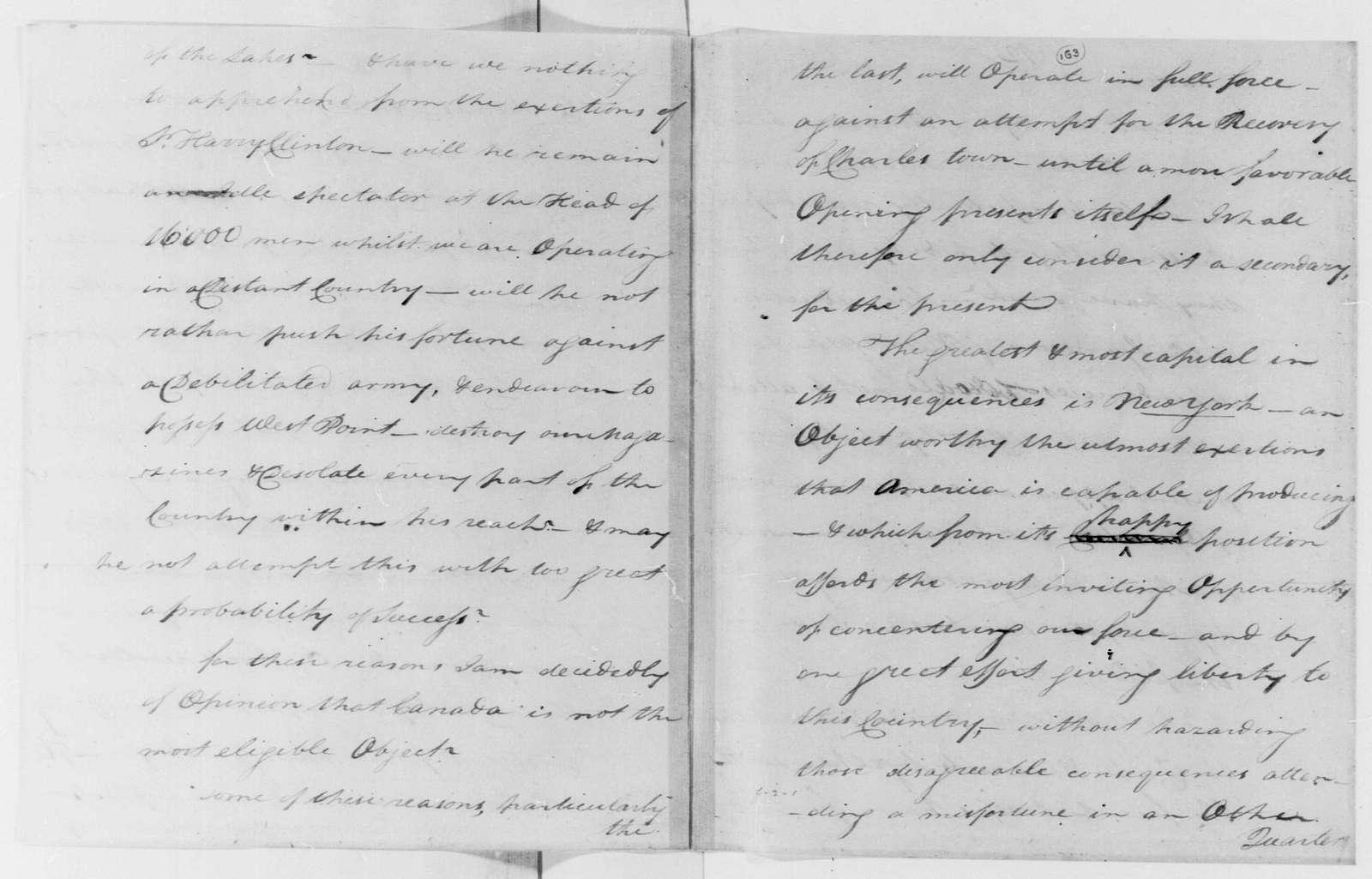 George Washington Papers, Series 4, General Correspondence: Anthony Wayne to George Washington, July 10, 1780