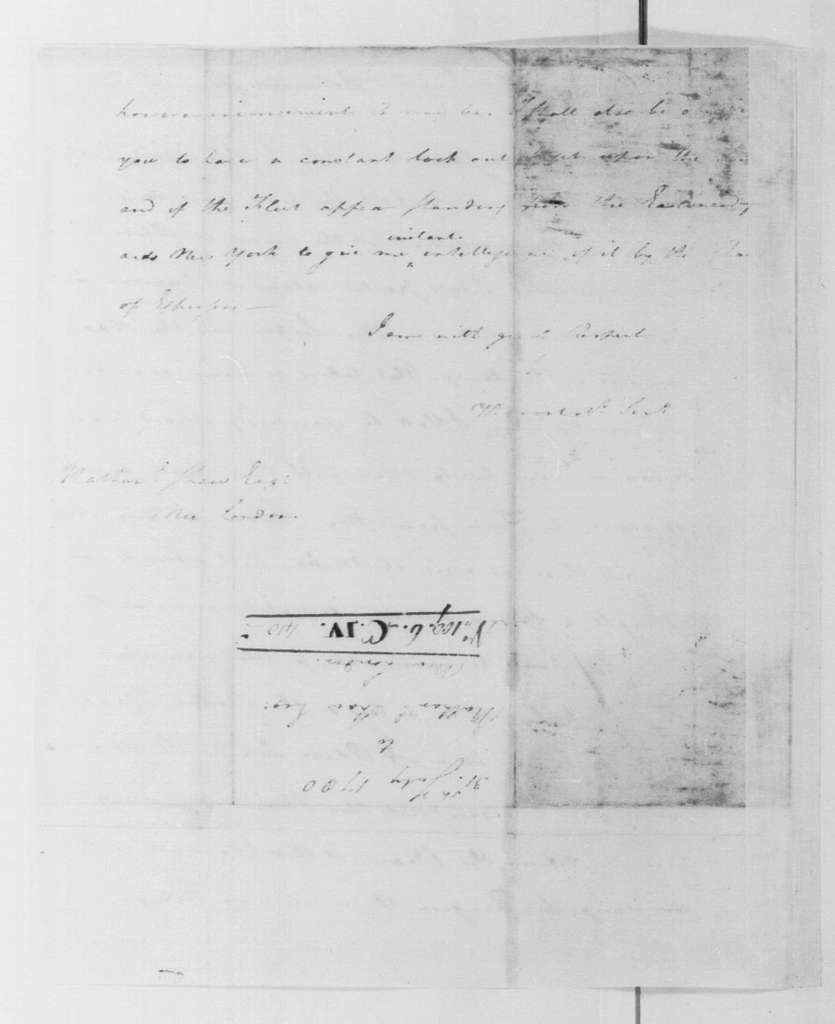 George Washington Papers, Series 4, General Correspondence: George Washington to Nathaniel Shaw, July 31, 1780