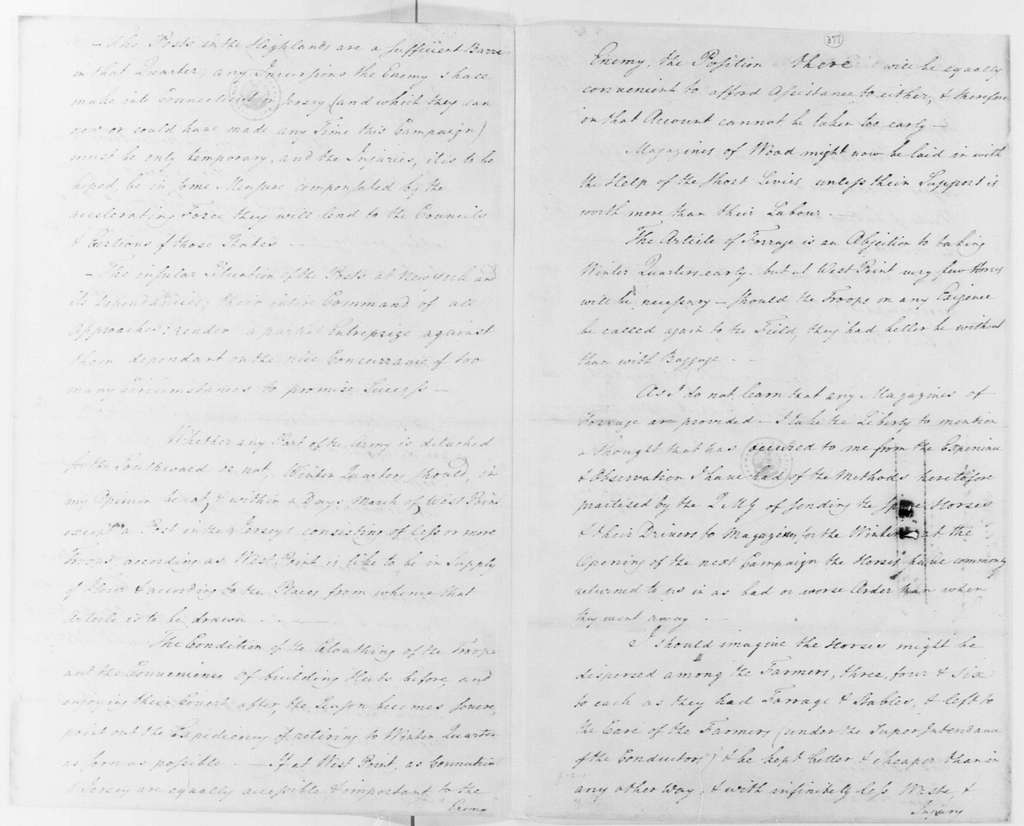 George Washington Papers, Series 4, General Correspondence: Jedidiah Huntington to George Washington, November 1, 1780