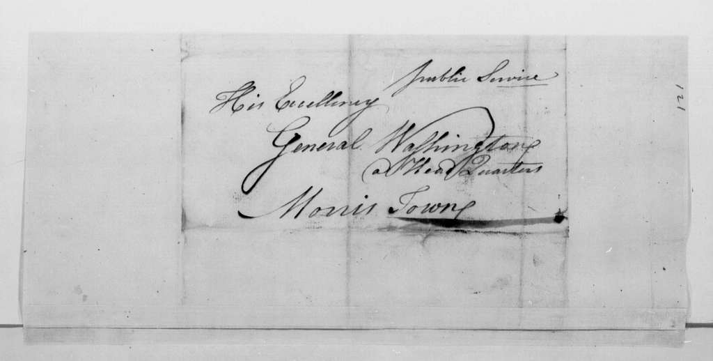 George Washington Papers, Series 4, General Correspondence: John Mehelm to George Washington, March 9, 1780, 19th-Century Transcription by William B. Sprague