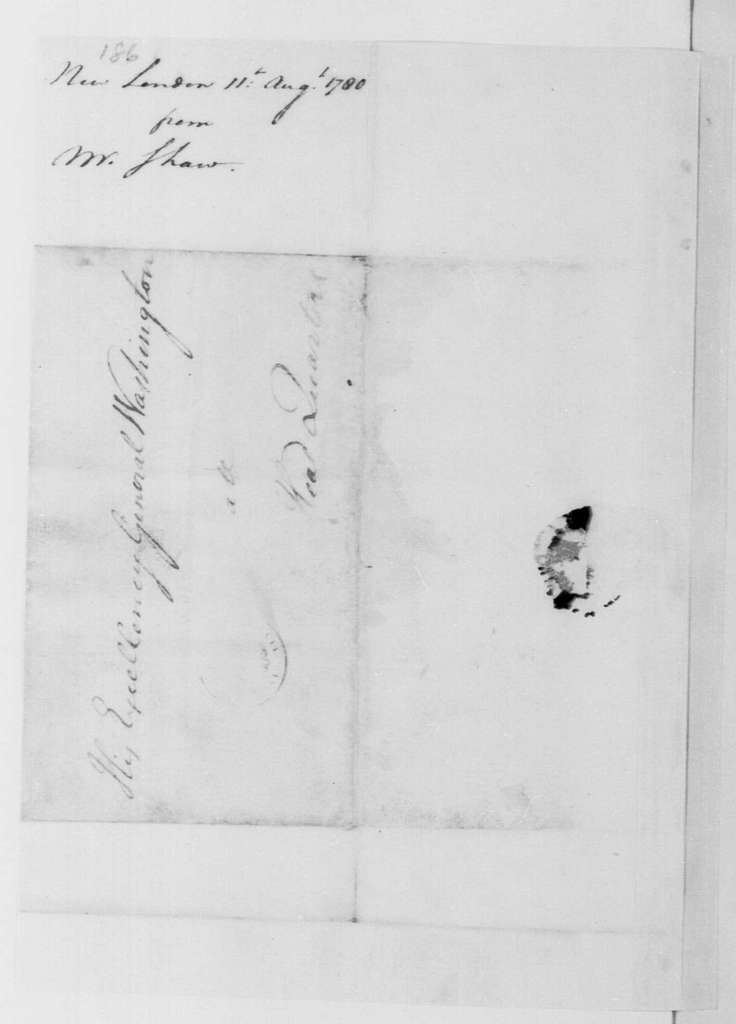 George Washington Papers, Series 4, General Correspondence: Nathaniel Shaw to George Washington, August 11, 1780