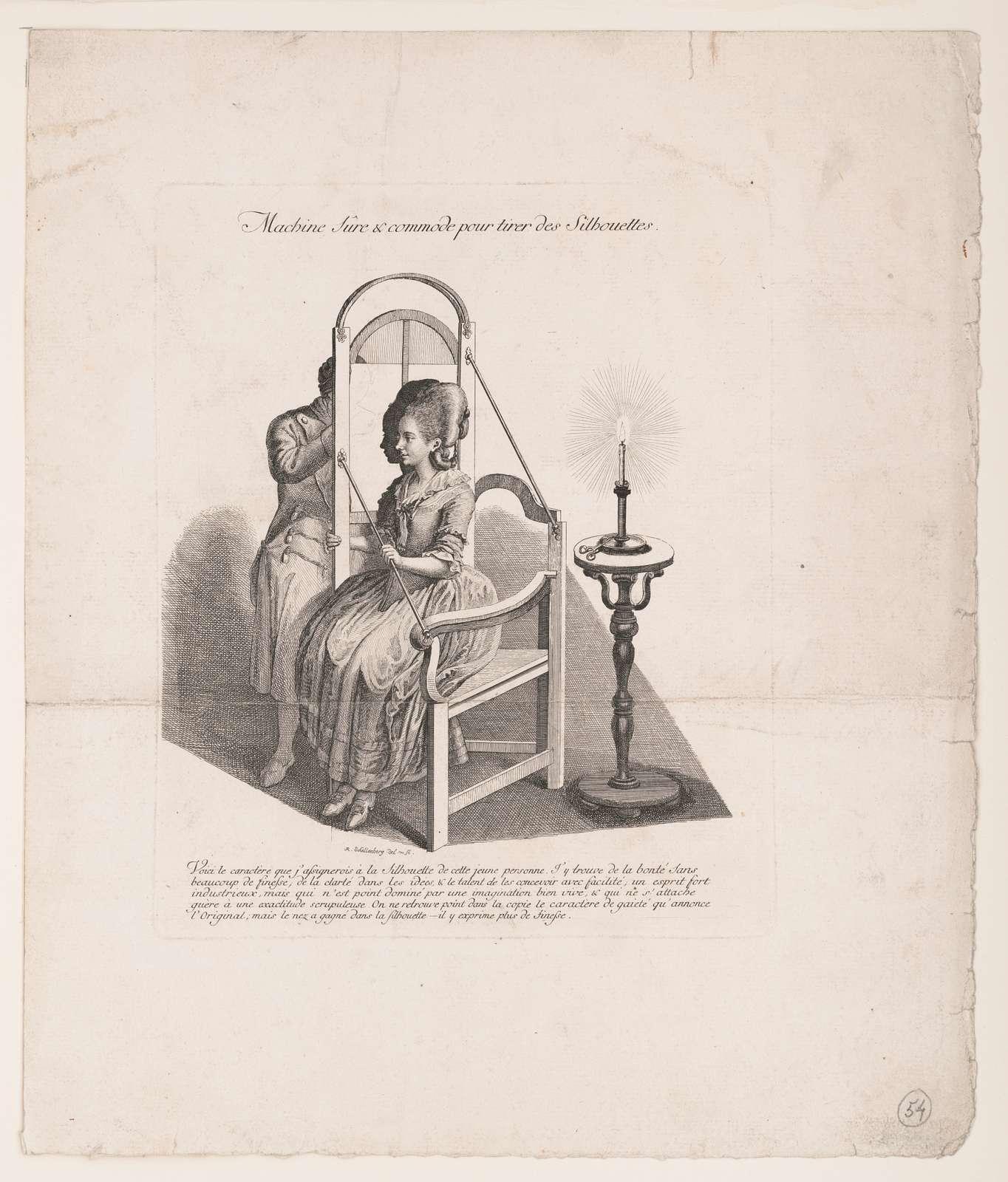 Machine sûre & commode pour tirer des silhouettes R. Schellenberg del. & sc