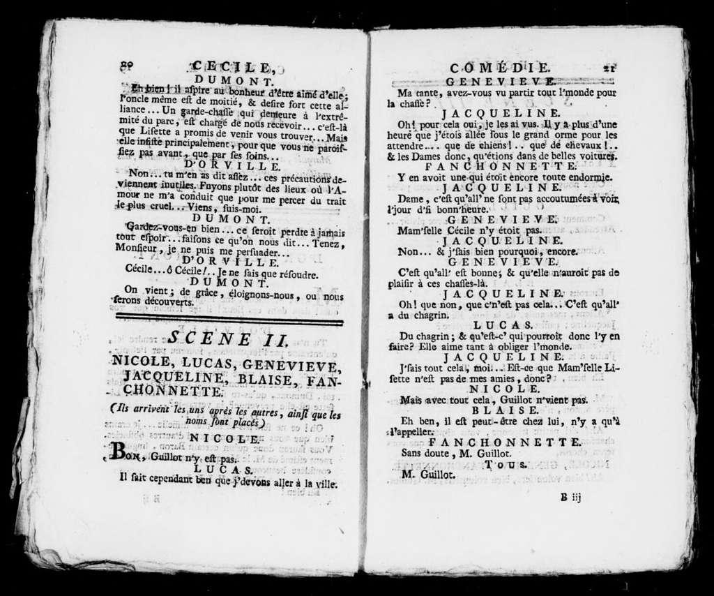 Cécile. Libretto. French