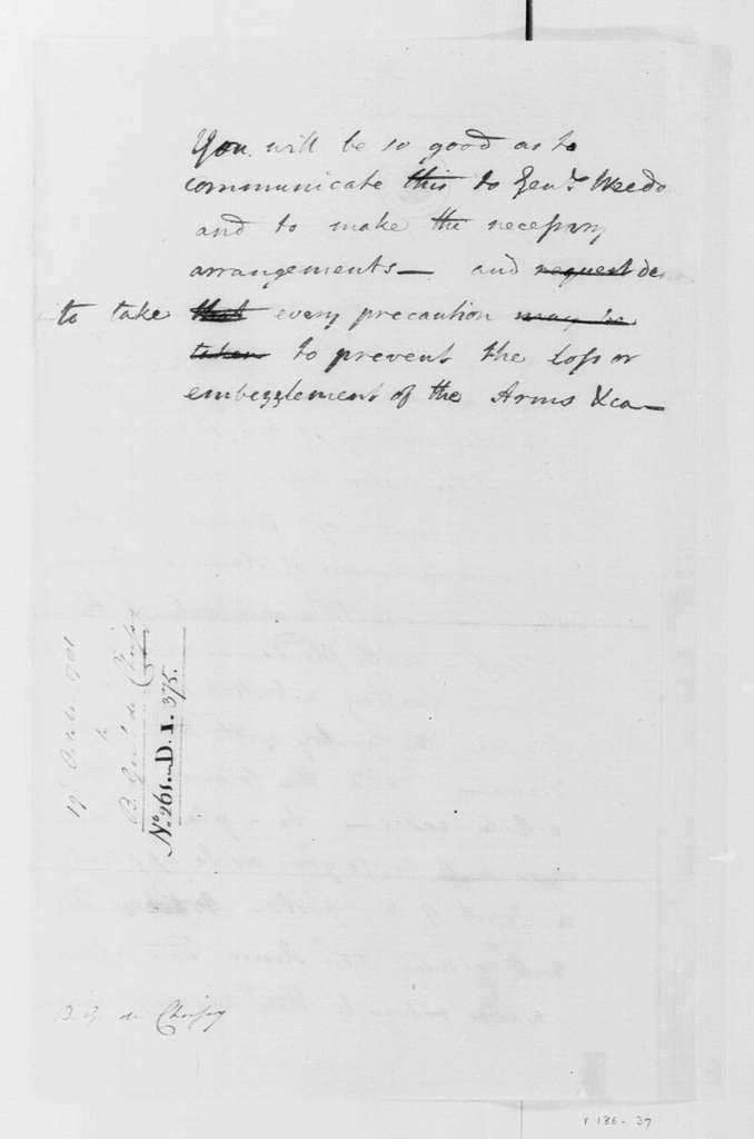 George Washington Papers, Series 4, General Correspondence: Claude Gabriel, Duc de Choisy to George Washington, October 19, 1781
