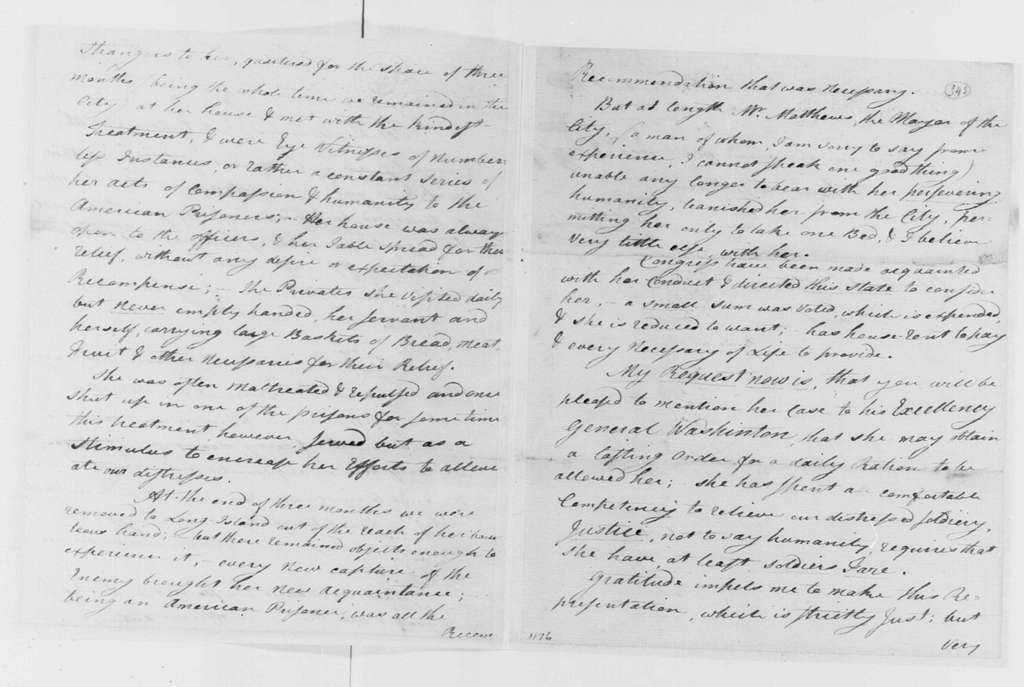George Washington Papers, Series 4, General Correspondence: David Brooks to Tench Tilghman, May 15, 1781