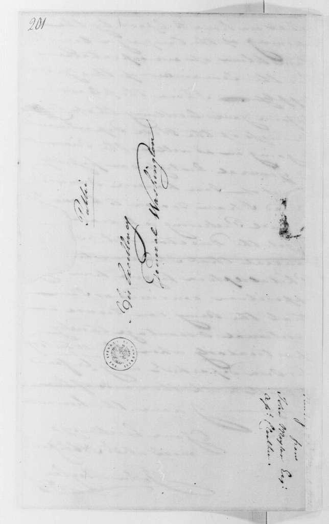 George Washington Papers, Series 4, General Correspondence: John Moylan to George Washington, March 23, 1781
