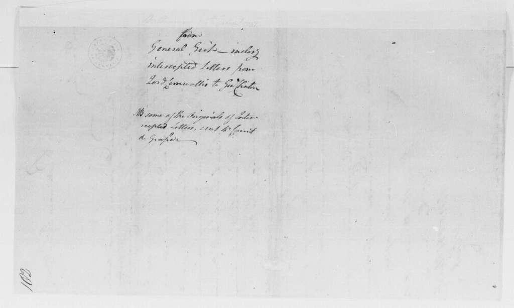 George Washington Papers, Series 4, General Correspondence: Mordecai Gist to George Washington, September 24, 1781