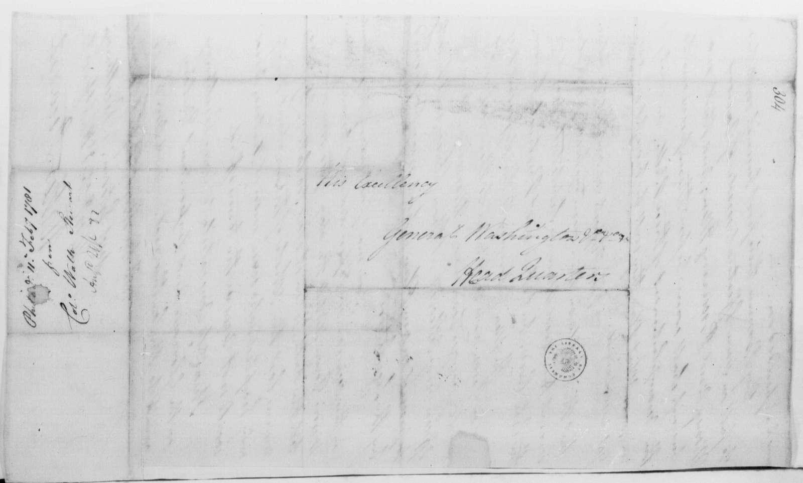 George Washington Papers, Series 4, General Correspondence: Walter Stewart to George Washington, February 11, 1781