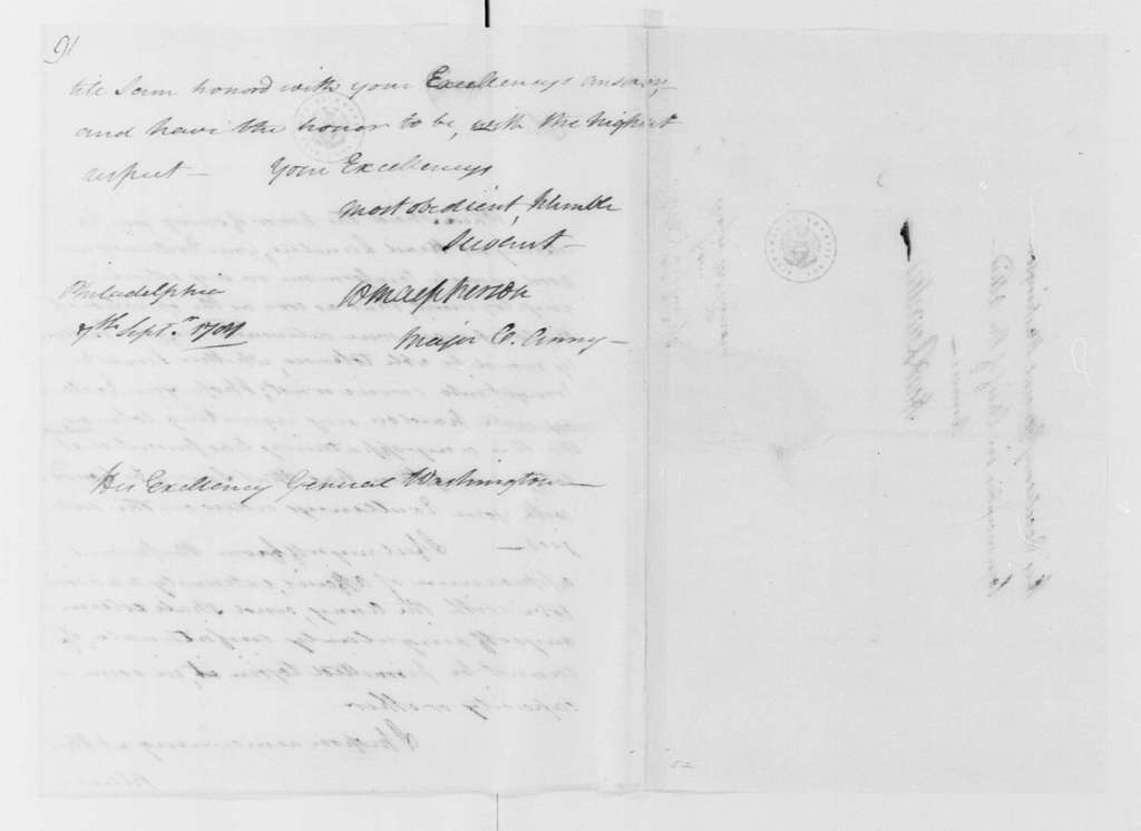 George Washington Papers, Series 4, General Correspondence: William MacPherson to George Washington, September 7, 1781