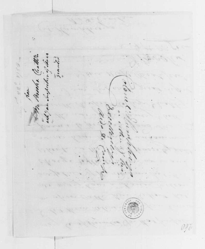 George Washington Papers, Series 4, General Correspondence: David Brooks to David Humphreys, August 22, 1782