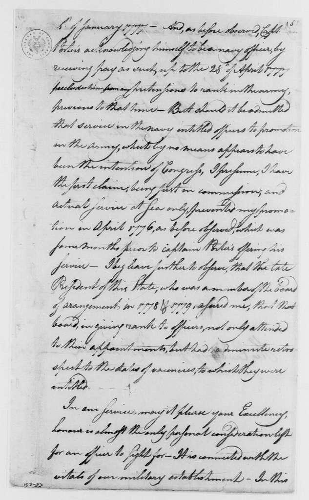 George Washington Papers, Series 4, General Correspondence: Isaac Craig to George Washington, February 23, 1782