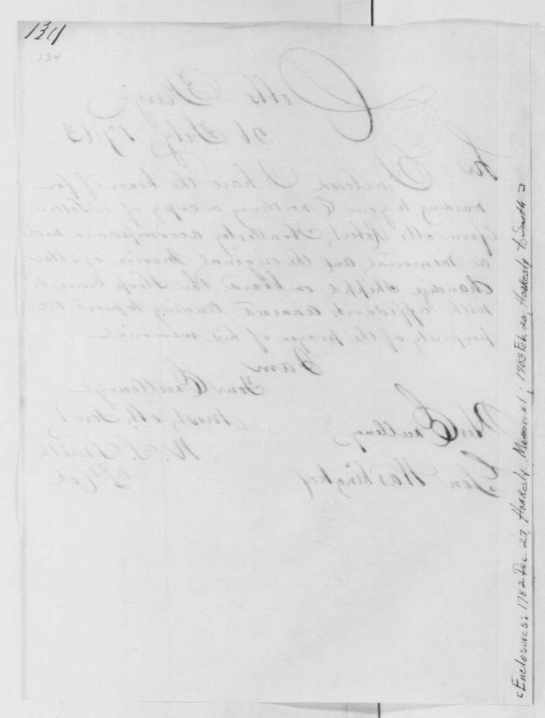 George Washington Papers, Series 4, General Correspondence: William S. Smith to George Washington, February 26, 1783, 19th-Century Transcription by William B. Sprague