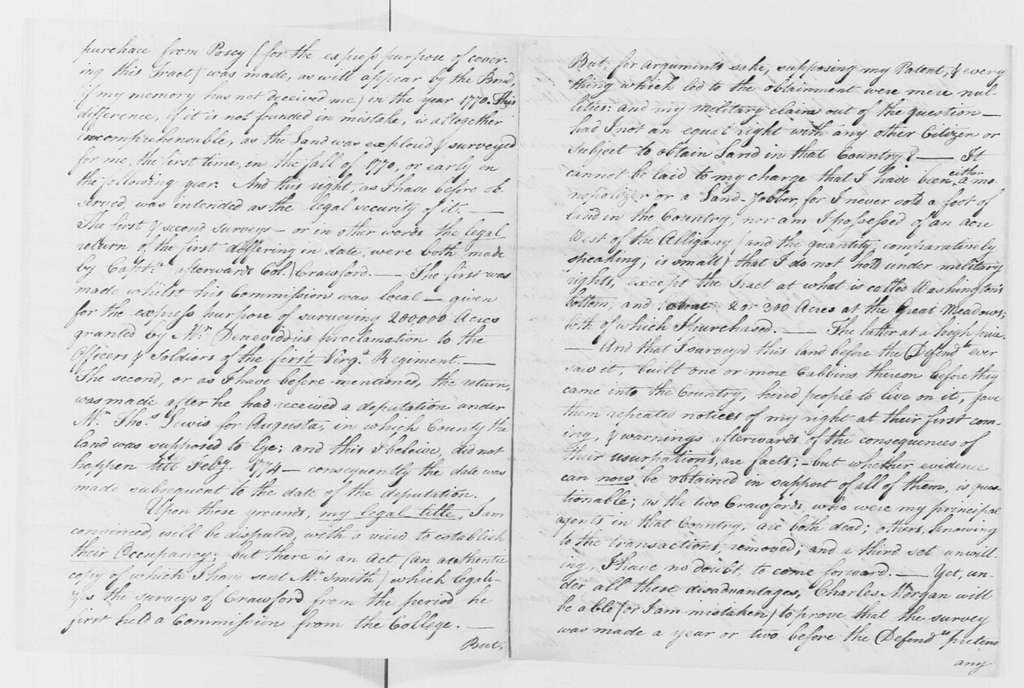 George Washington Papers, Series 4, General Correspondence: George Washington to Charles Simms, September 22, 1786 (Incomplete Original; Copy in Series 2, Letterbook 13)